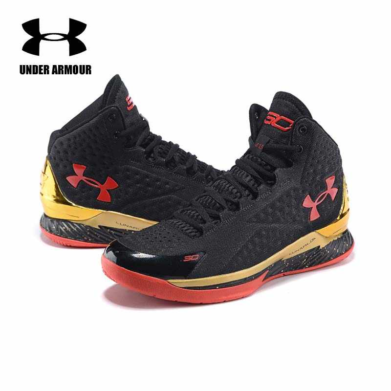 2830de018880 Under Armour Men Curry V1 Basketball shoes zapatillas hombre deportiva male  high-Top Cushioning Light