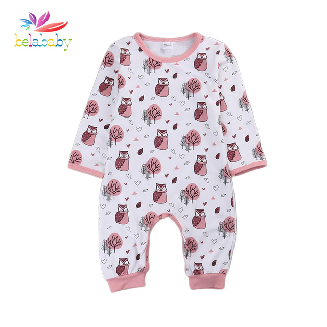 07fa3cbb1f42 Belababy Baby Rompers Spring Autumn Cartoon Casual Fashion Cotton Long  Sleeve Kids Jumpsuits Boys Girls Rompers Outfits