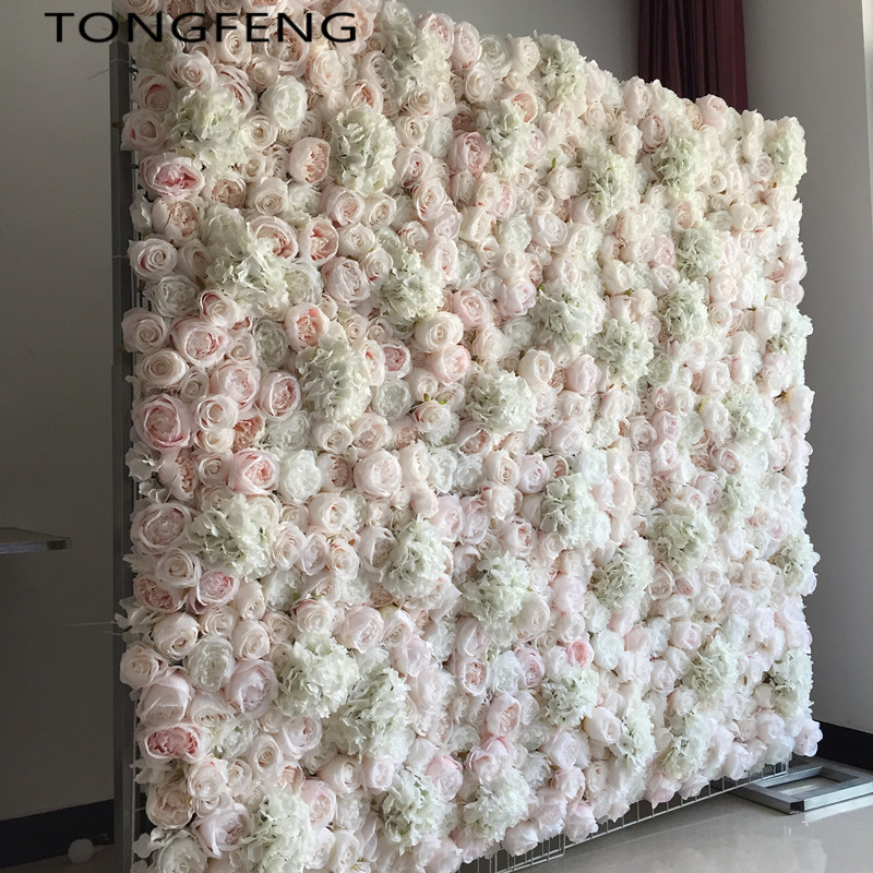 24pcs lot Artificial silk hydrangea rose 3D flower wall wedding backdrop decoration flower stage decoration Mixcolor