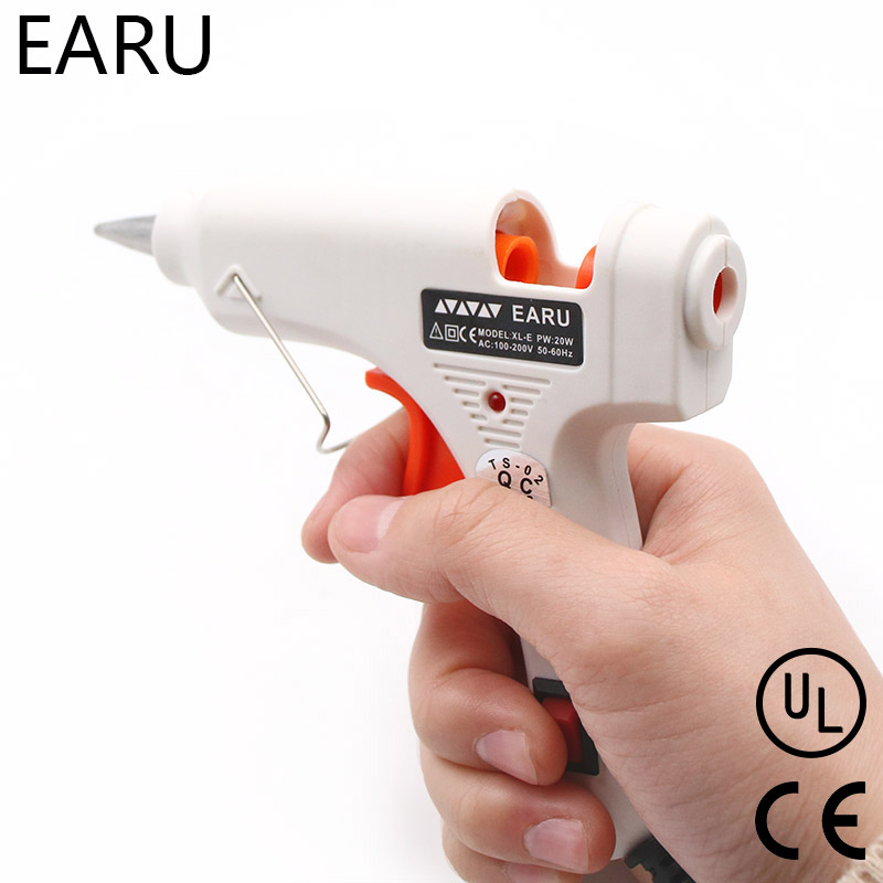20W Heat Hot Melt Glue Gun Industrial Mini Thermo Electric Heat Temperature Pneumatic DIY Repair Tool EU US Plug AC 110V-220V