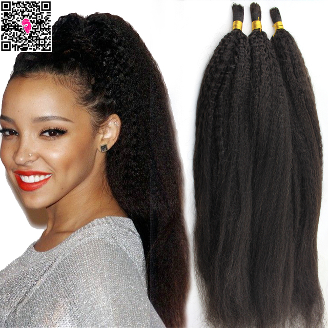 Brazilian Virgin Hair Bulk Human For Braiding No Weft 3 Bundles Straight Italian Co
