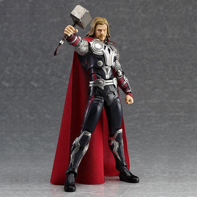 Elsadou <font><b>Figma</b></font> 216 <font><b>Marvel</b></font> <font><b>The</b></font> <font><b>Avengers</b></font> <font><b>Thor</b></font> 7'' PVC <font><b>Action</b></font> <font><b>Figure</b></font> Removable Model 16cm