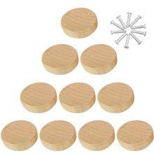 8 pces/10 pces/20 pces/50 pces de madeira maciça único furo lidar com gaveta porta do armário puxador de madeira puxador de móveis ferragens