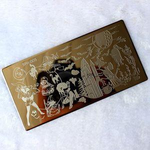Image 4 - Halloween Weihnachten Nagel Stanzen Platten Nail Stempel Polnischen Bild Nagel Kunst Bild Konad Drucken Stempel Stanzen Maniküre Vorlage
