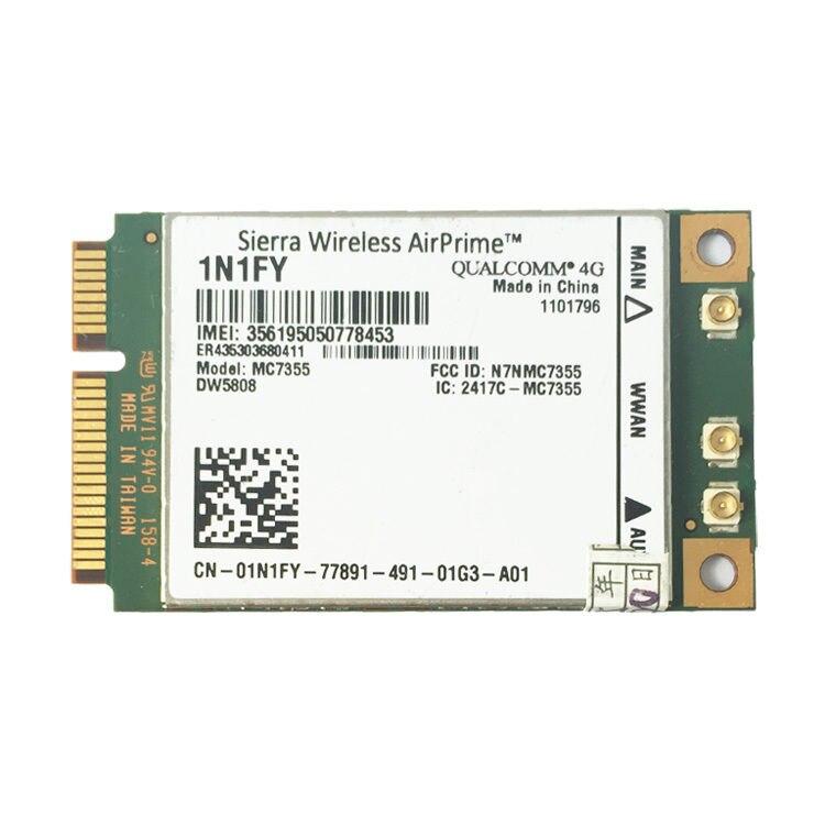 AirPrime sans fil MC7355 PCIe LTE/HSPA + GPS 100 Mbps carte 4G Module pour 1N1FY DW5808 Sierra Dell 1900/2100/850/700 (B17)/700