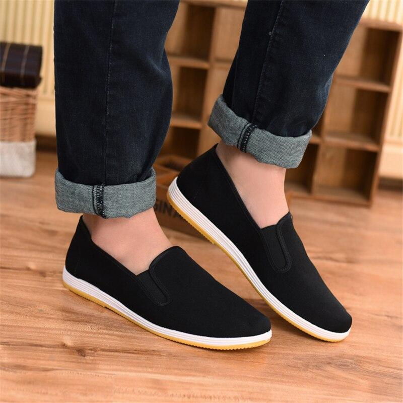 nueva llegada 089e5 00ed4 € 9.92 9% de DESCUENTO|Zapatos de Hombre Sapatos Hombre zapatos planos  hombres negro zapatos casuales hombres Alpargatas mocasines zapatos de lona  ...