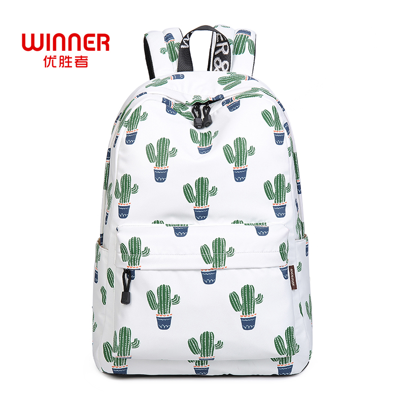 WINNER Brand Fashion Print Backpack School Bags For Teenager Girls Boys Fresh Rucksack Mochila Feminina Backpacks children school bag minecraft cartoon backpack pupils printing school bags hot game backpacks for boys and girls mochila escolar