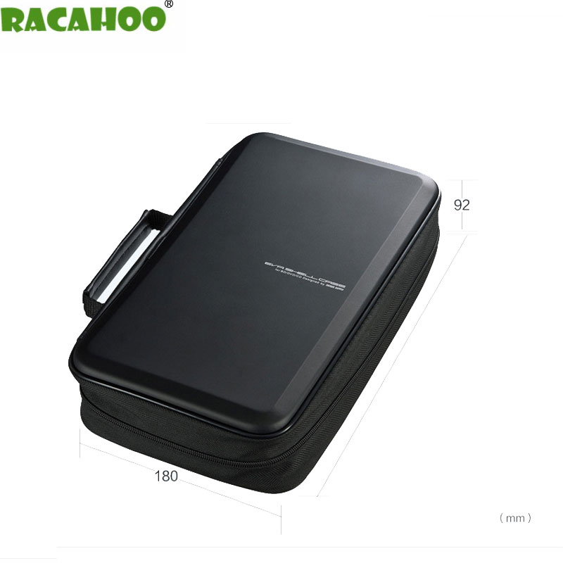 RACAHOO CD Case 104 Sleeve of shockproof Blu-ray disc storage box CD / DVD storage high quality EVA Material Case For car home oppo udp 205 4k uhd blu ray 3d dvd dvd audio sacd and cd audiophile blu ray disc player china version 110v 220v