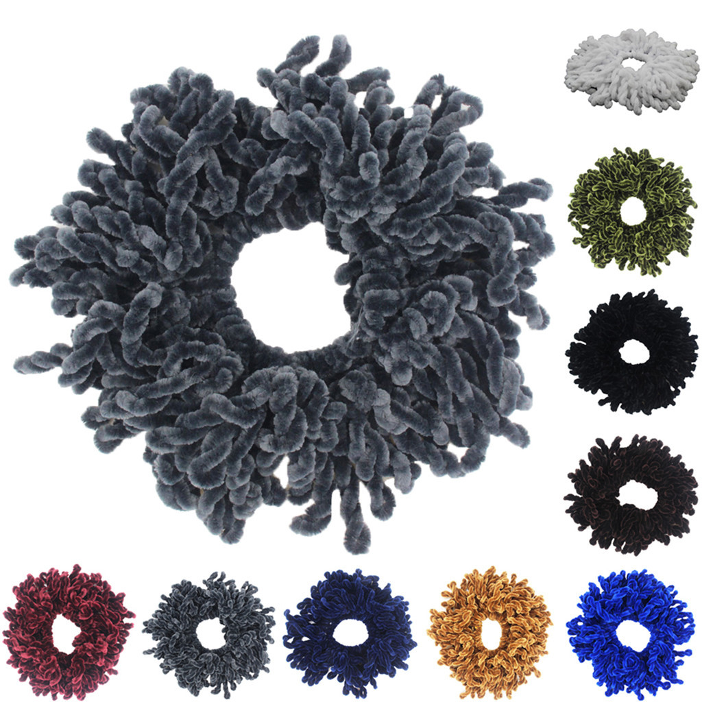 Flexible Rubber Band Simple Hijab Volumizing Scrunchie Large Hair Bow Headwear Hair Accessories For Women Hairband Y30#