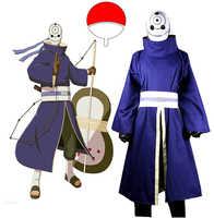 Naruto Shippuden Uchiha Obito Cosplay Kostüm mit Maske Nach Maß