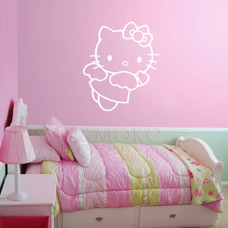 Cute Hello Kitty Angel Wall Sticker Art Vinyl Decal Mural Wallpaper Girl  Kid Baby Room Nursery