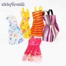 Abbyfrank 5 Pcs Lot Dolls Clothes Skirt Evening Dress Princess Clothing Miniskirt For Baked Dolls Doll