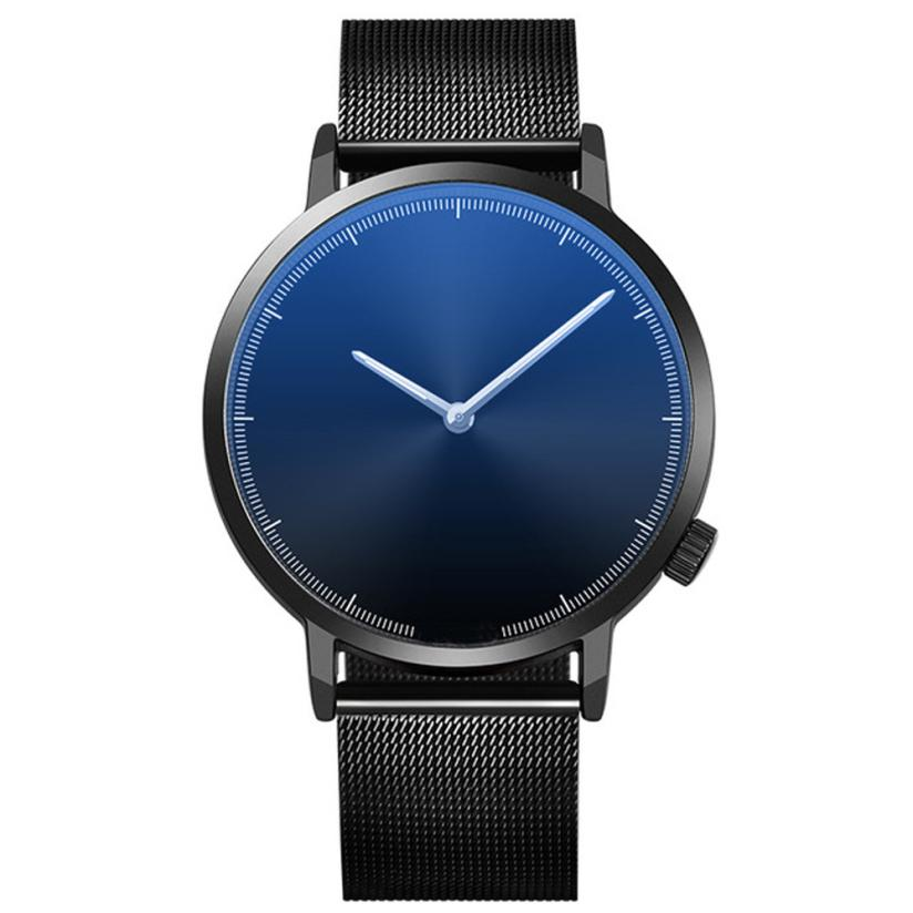 Mens Business Male Watch 2018 Fashion Classic Gold Quartz Stainless Steel Wrist Watch Watches Men Clock relogio masculino A2