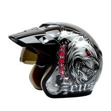 Новое прибытие Мода halley ZEUS Мотоциклетный шлем Vintage скутер шлем Ретро открытый шлем 3/4 moto каско DOT утвержденных
