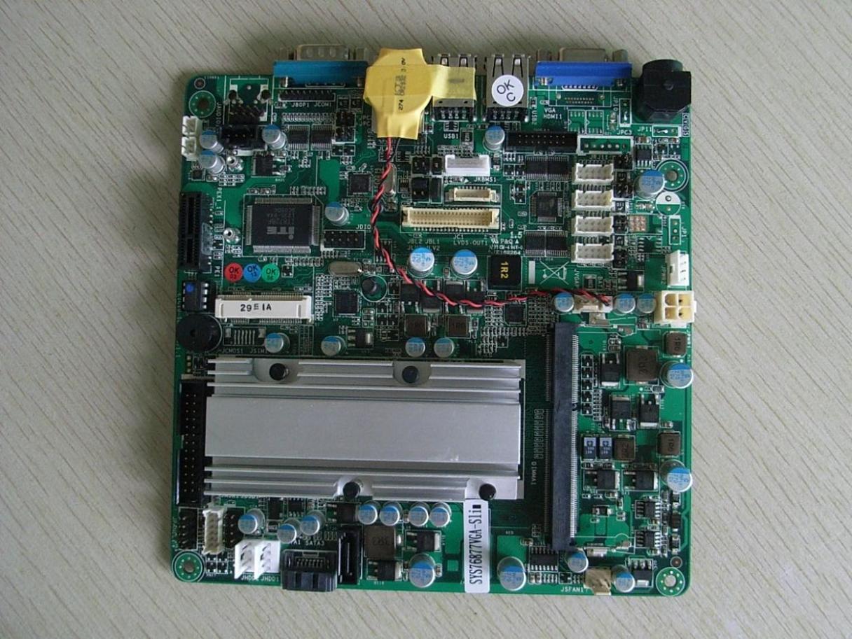 Mini-itx Motherboard Ultra-thin 18mm Serial N2600 SYS76877VGA-SLIM 100% tested perfect quality m945m2 945gm 479 motherboard 4com serial board cm1 2 g mini itx industrial motherboard 100