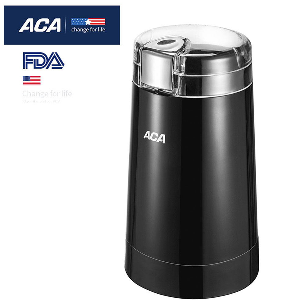 ACA Mini Coffee Grinder Electric Multi-function Coffee Grinder Spice Grinder for Coffee Beans Black Household Office Business electric pepper spice salt mill grinder muller black 4 x aa