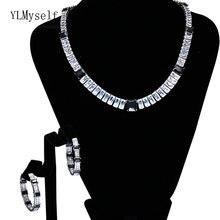 Комплект ювелирных изделий для женщин блестящие Квадратные кристаллические