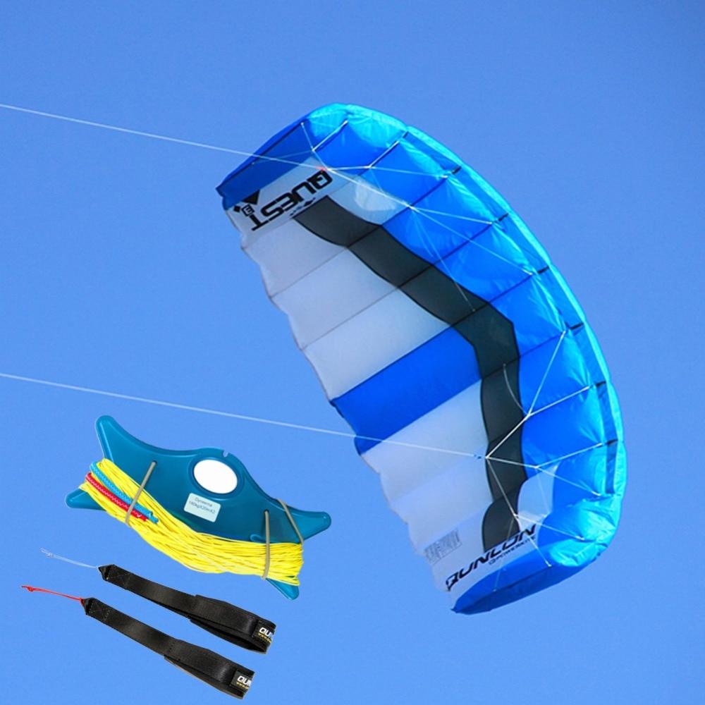 2 Sqm Outdoor Sport Stunt Kite Dual Line Parachute Kite For Kitesurfing Kiteboarding With Kite Lines Wrist Strap2 Sqm Outdoor Sport Stunt Kite Dual Line Parachute Kite For Kitesurfing Kiteboarding With Kite Lines Wrist Strap