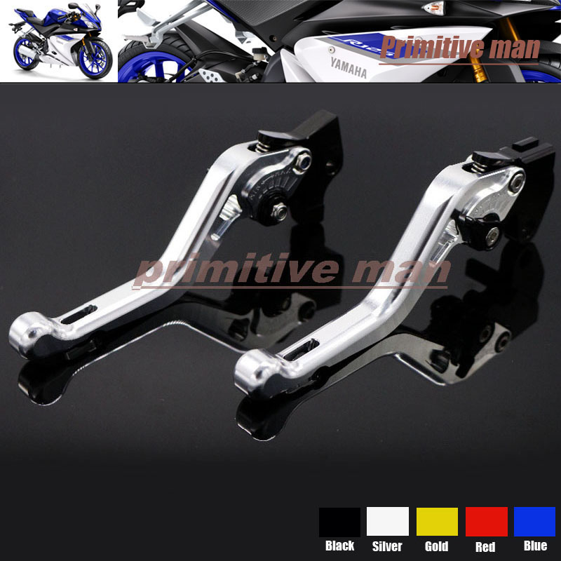 ФОТО For YAMAHA YZF R125 2012-2013 Motorcycle Short Brake Clutch Levers Silver