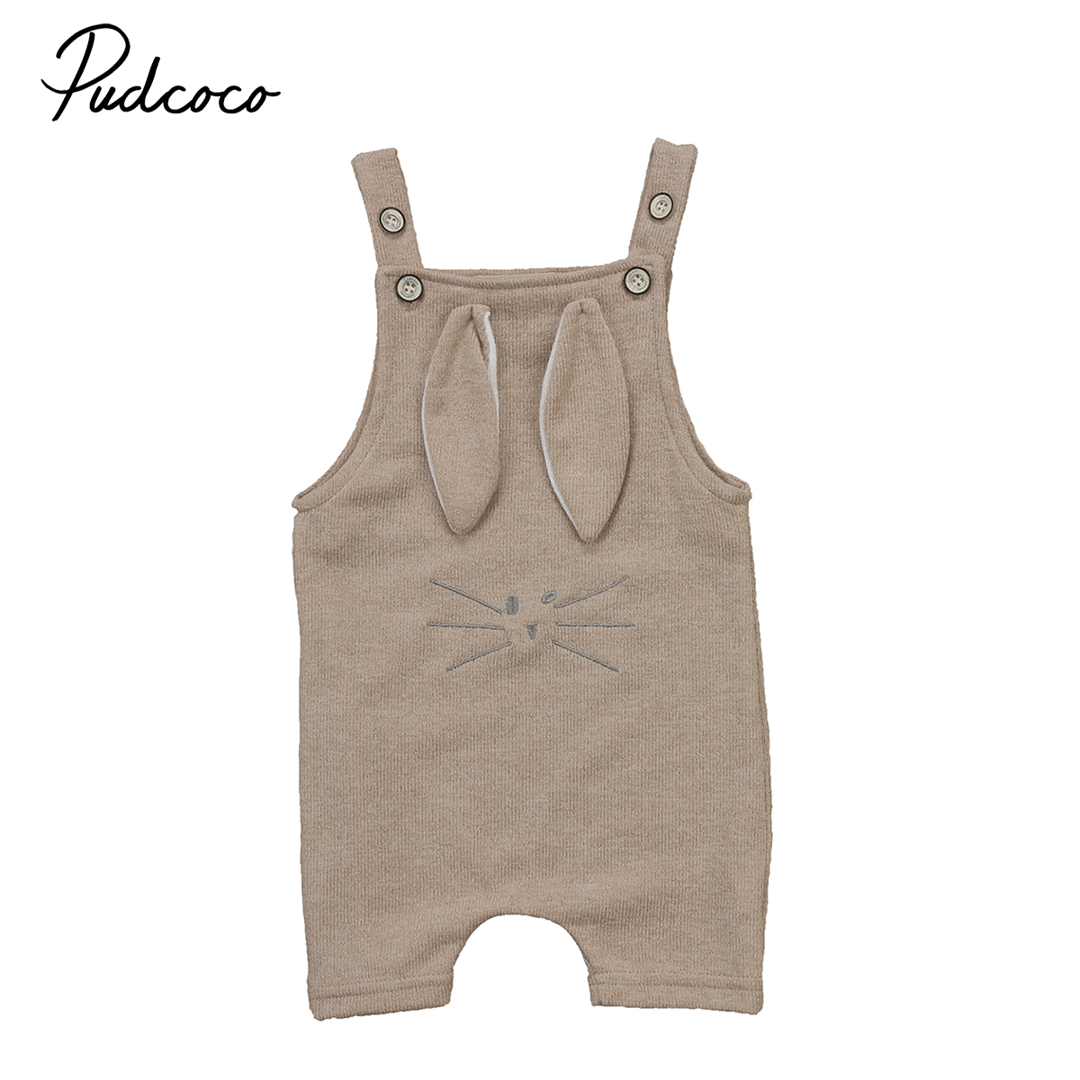 Newborn Infant Baby Boys Girls Kids Cotton Knitted One-Piece Romper Clothing 3D Rabbit Ears Hooded Jumpsuit Clothes Bib Pants mother nest 3sets lot wholesale autumn toddle girl long sleeve baby clothing one piece boys baby pajamas infant clothes rompers