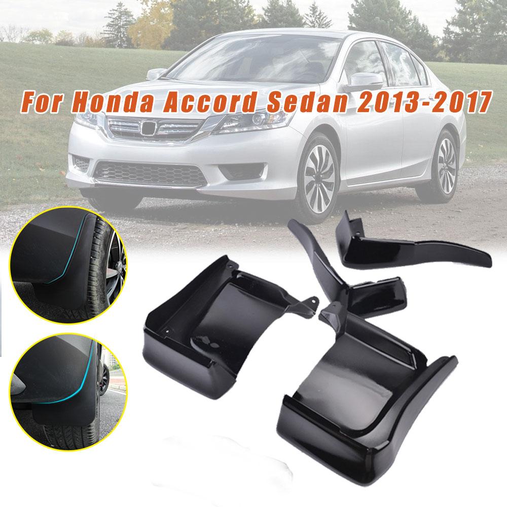 Maite For Honda Accord 4 Door 2013-2017 Car Front and Rear Mud Flaps Splash Guards Fender Mudguard 4Pcs