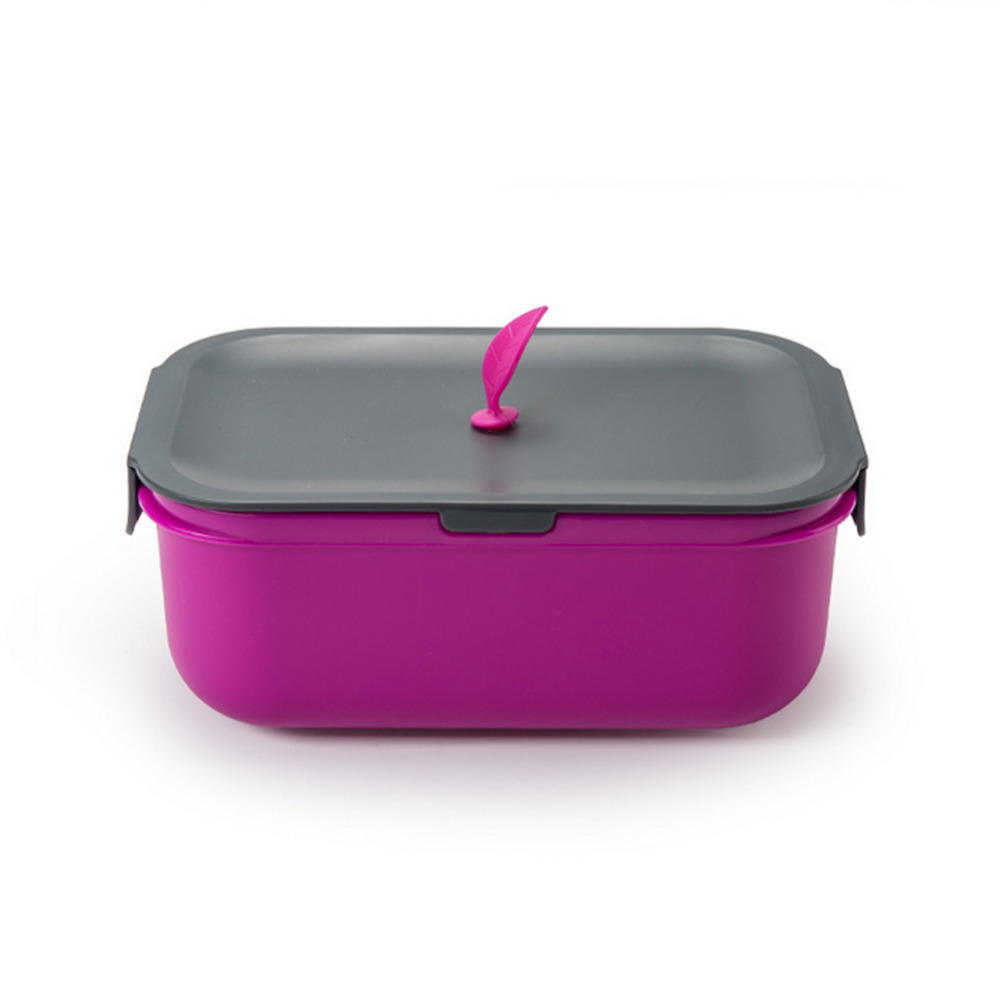 1200ml Classic Lunch Box Double-layer Bento Box Dinnerware Food Container <font><b>Set</b></font> with Chopsticks Spoon for Adults Children