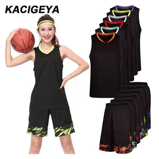 Trajes de baloncesto mujeres Logotipo de encargo ropa deportiva de verano  ropa seca Fit Running Training 89c0cca4f4566