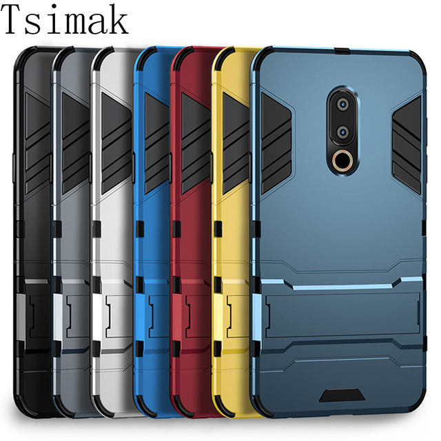 Armor Shockproof Case For Meizu M6 Note M3 M5 M5C M5S M6S M6T Pro 6 Plus 15 Lite E2 E3 A5 3D Shield PC+Silicone Phone Case Cover