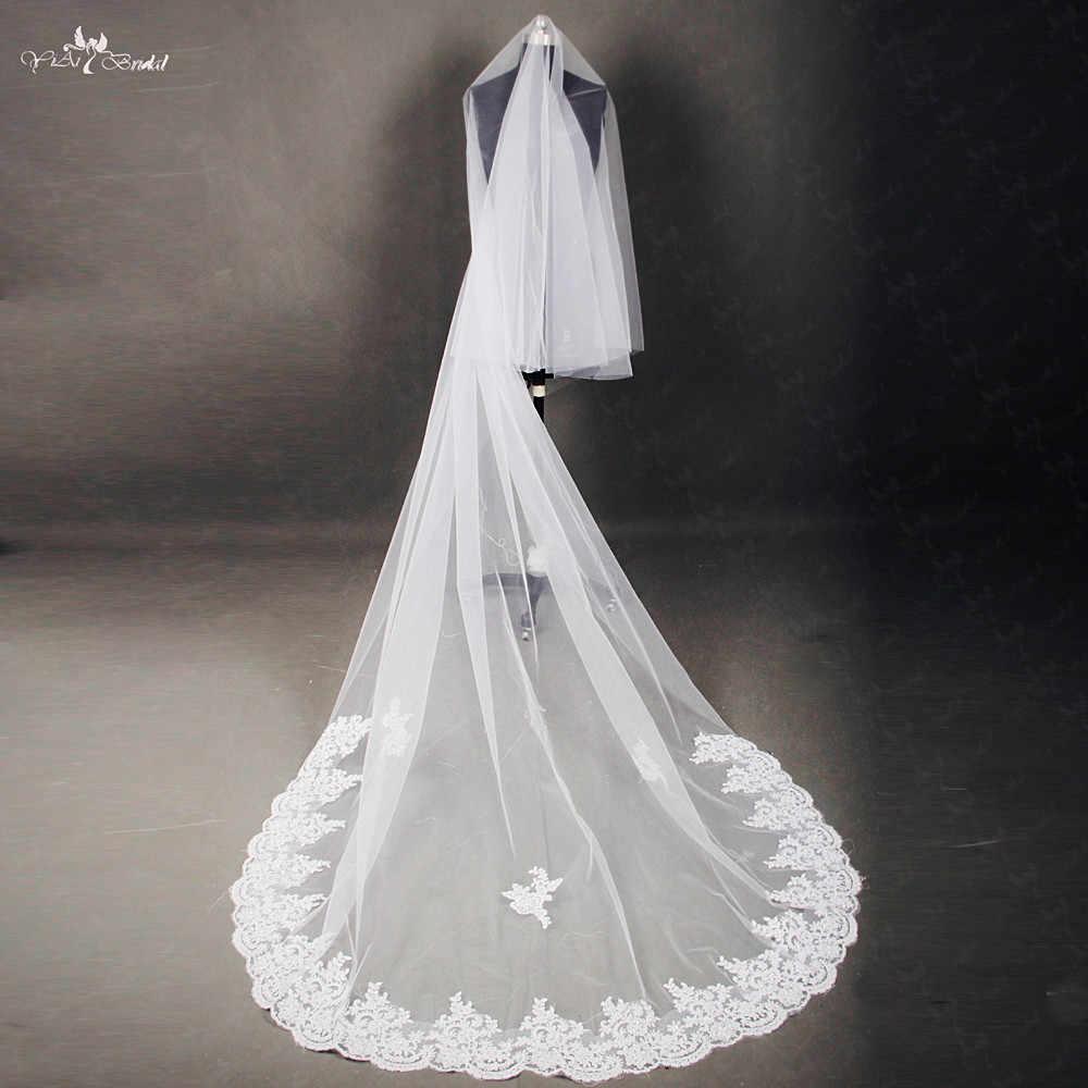 RSV39 Eine Schicht Perlen Braut Spitze Schleier