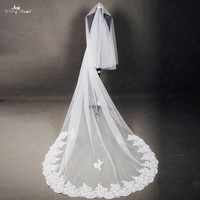 RSV39 One Layer Beaded Bridal Lace Veil