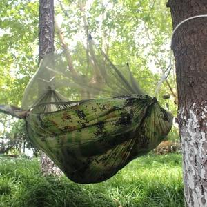 Image 3 - Double Camping Hammock ยุง Bug สุทธิเปลญวนสายรัดต้นไม้ Carabiners Easy Assembly แบบพกพาสำหรับ Survival Travel