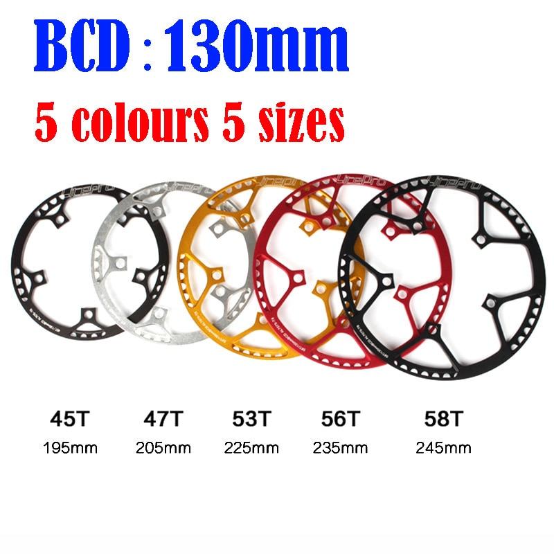 130 BCD Litepro ultralight Folding Bicycle Chainwheel 45T 47T 53T 56T 58T AL7075 Alloy BMX Chainring Bike Crankset Tooth цены
