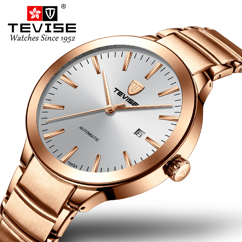TEVISE Fashion Business Men Watch T845a Stainless Steel Strap Top Brand Waterproof Automatic Mechanical Luxury Relogio MasculinoTEVISE Fashion Business Men Watch T845a Stainless Steel Strap Top Brand Waterproof Automatic Mechanical Luxury Relogio Masculino