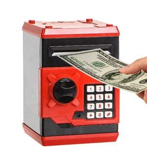 Image 2 - Eworld חם חדש פיגי בנק מיני כספומט כסף תיבת בטיחות אלקטרוני סיסמא לעיסת מטבע מזומנים הפקדת מכונה מתנה לילדים ילדים