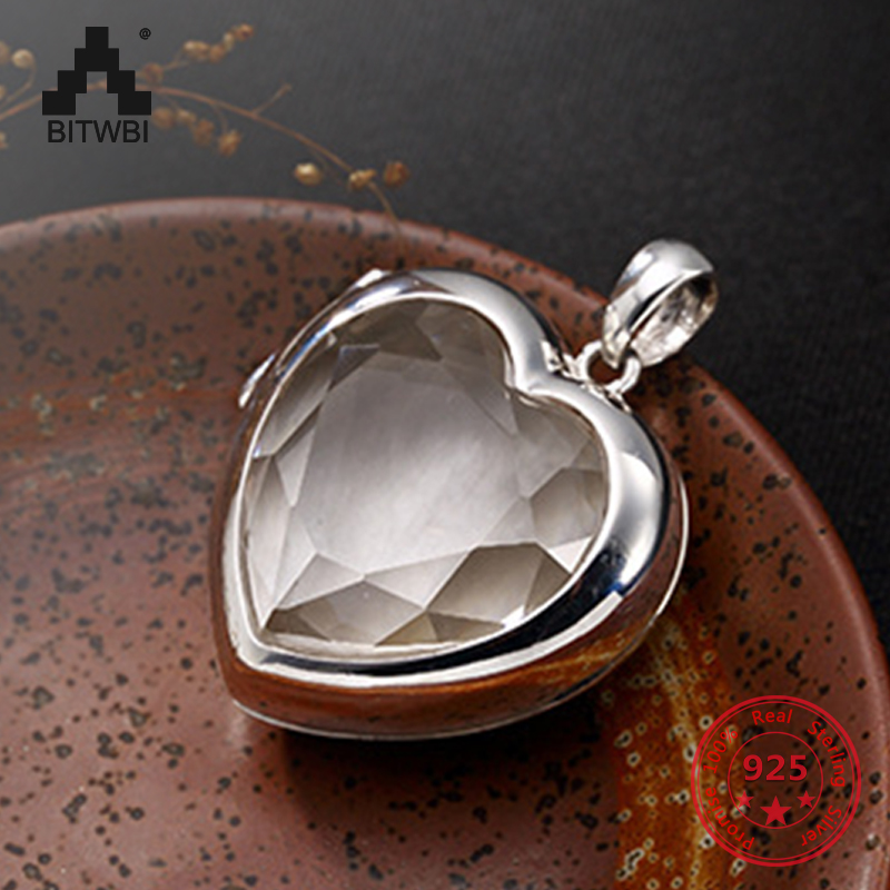 S925 Sterling Sliver Heart-shape Black Box Pendant Necklace for Women Simple Fashion Remembrance Jewelry Gift for Girl s925 sterling sliver animal pendant for women personality auspicious carp tassel fish shape pendant necklace best jewelry gift
