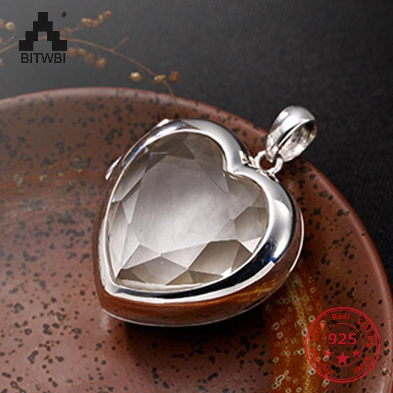 S925 pendentif en argent Sterling en forme de coeur noir boîte collier pour les femmes Simple mode souvenir bijoux cadeau pour fille