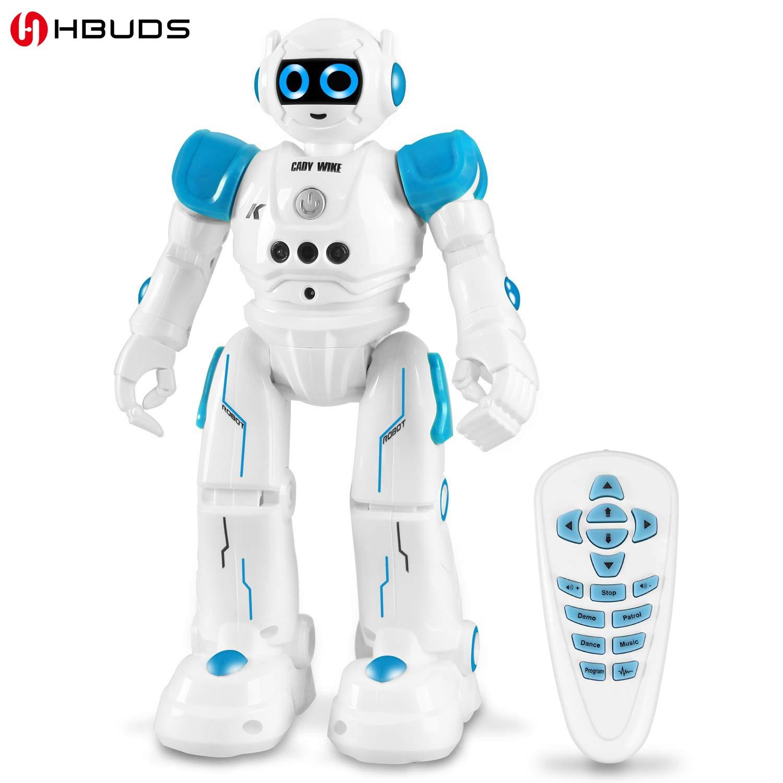 Robot éducatif hbud R11 jouet Intelligent Programmable marche musique danse Combat défenseur Robo enfants Robotica Kit Robot Rc