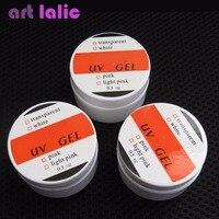 高品質3色プロのネイルアートuvジェルポリッシュ0.5オンス/ピースピンクホワイトクリアネイルアー