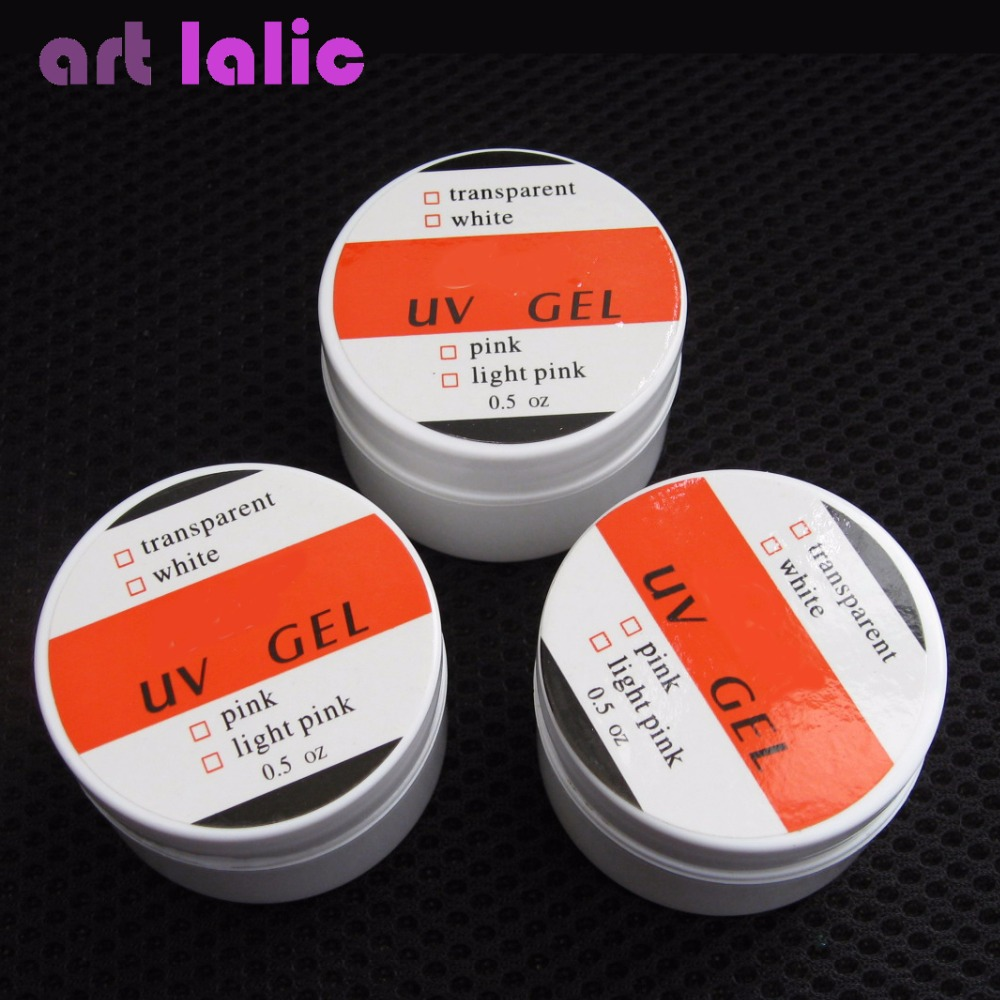 High Quality 3 Colors Professional Nail Art UV Gel Polish 0.5 oz/pcs Pink White Clear 120 180 colors professional manicure salon nail art uv gel polish tips card display board book chart palette 3 colors