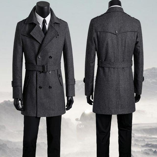 Mantel Zweireiher Woolen Größe Plus Herren Mäntel Herrenbekleidung wn1XqY0n
