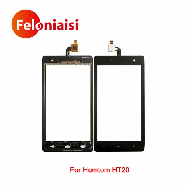 "10Pcs/lot High Quality 4.7"" For Homtom HT20 Touch Screen Digitizer Sensor Glass Lens Panel Black+Tracking Code"