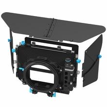 FOTGA DP500III Pro DSLR mat kutu güneşlik ile donuts filtre tutucular için A7 II A7RII A7S II BMPCC 5 DIII 15mm çubuk rig