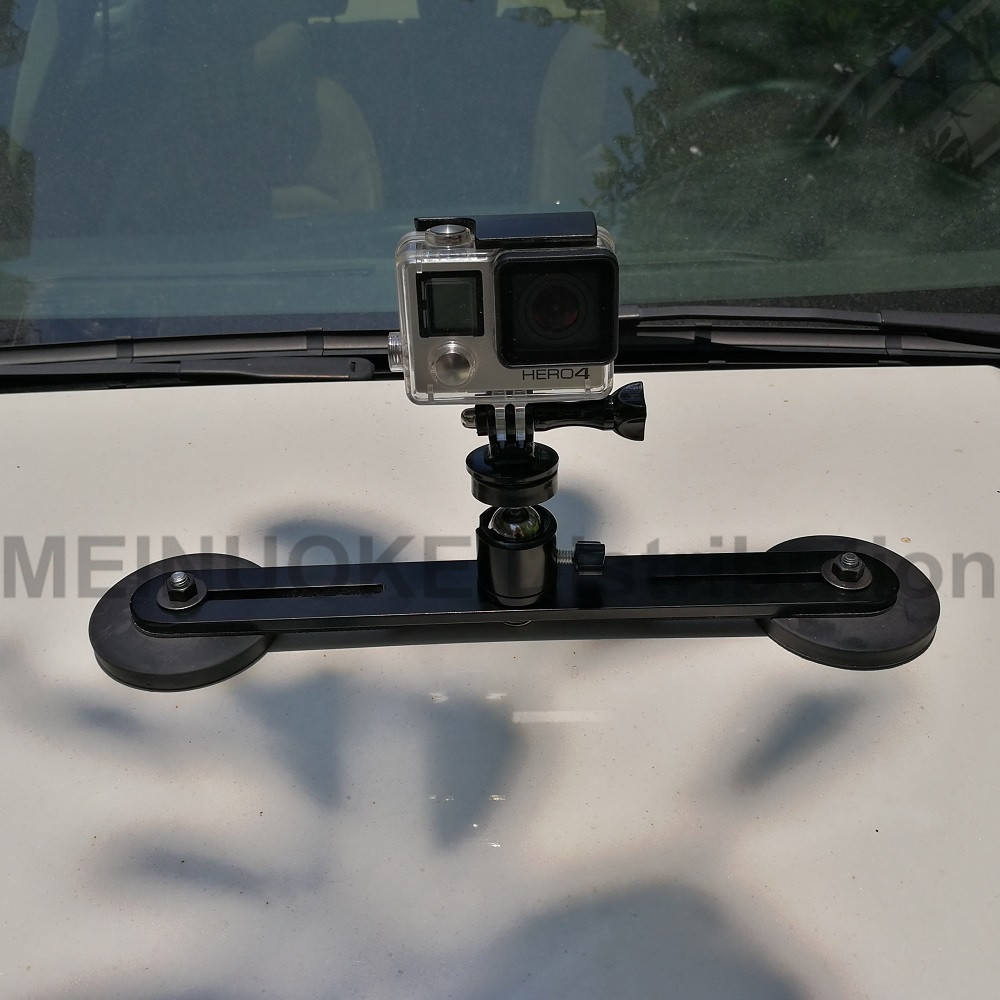 Heavy duty aimant magnétique voiture suciton tasse montage pour sony gopro hero session sjcam sj4000 action camera dslr camcoder smartphone
