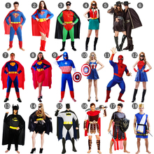 Masquerade Cosplay Halloween Spiderman Batman Superman Flashman Superhero Costume