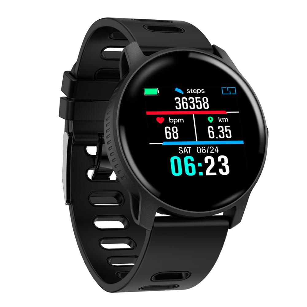 Woman Men Smart Watch IP68 Waterproof Fitness Tracker Heart Rate monitor Smartwatch Women Clock for android IOS in Smart Watches from Consumer Electronics