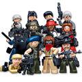 12 unids SWAT Policía y bandidos El Fantasma Fantasma Bloques De Construcción Del Ejército Comando de Asalto arma Fuerzas Armadas compatible legod Juguete