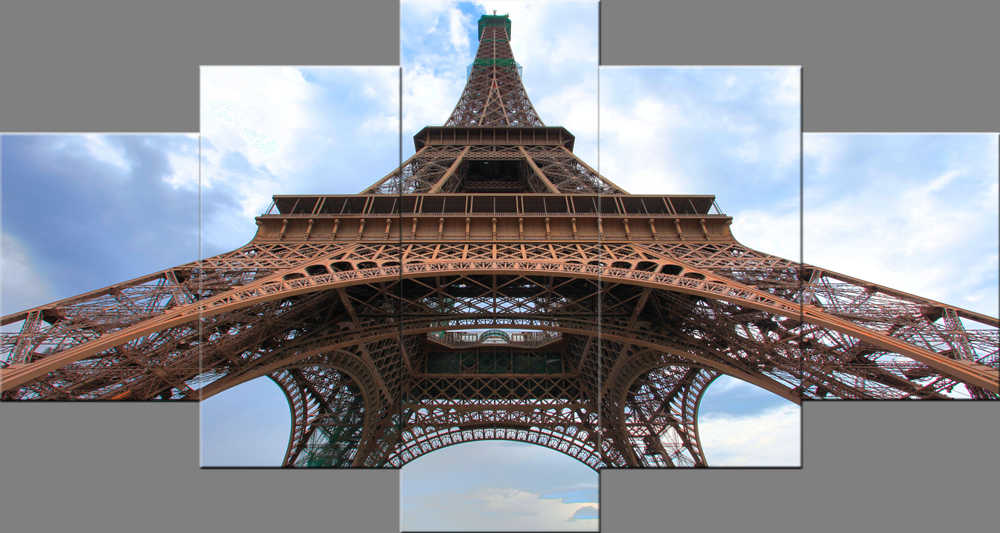 5 Panel Paris Eiffel Tower Wall Pictures for Living Room Photo to Canvas Wall Art Home Decor Bedroom Canvas Painting