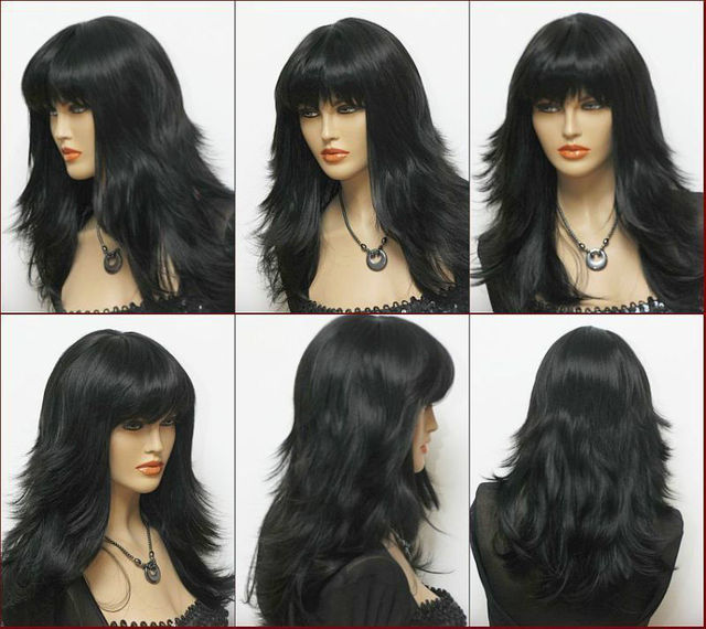 Beautiful Fashion Wig/Hair New Long Black Cosplay Fashion Wavy Wig