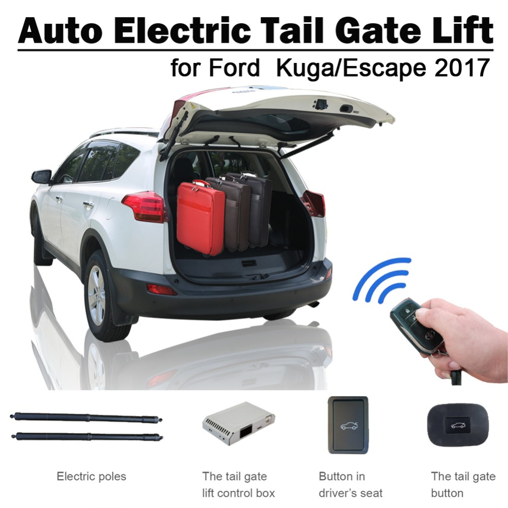 Smart Auto Electric Tail Gate Lift For Ford Kuga Escape 2017 Remote Control Drive Seat Button Control Set Height Avoid Pinch