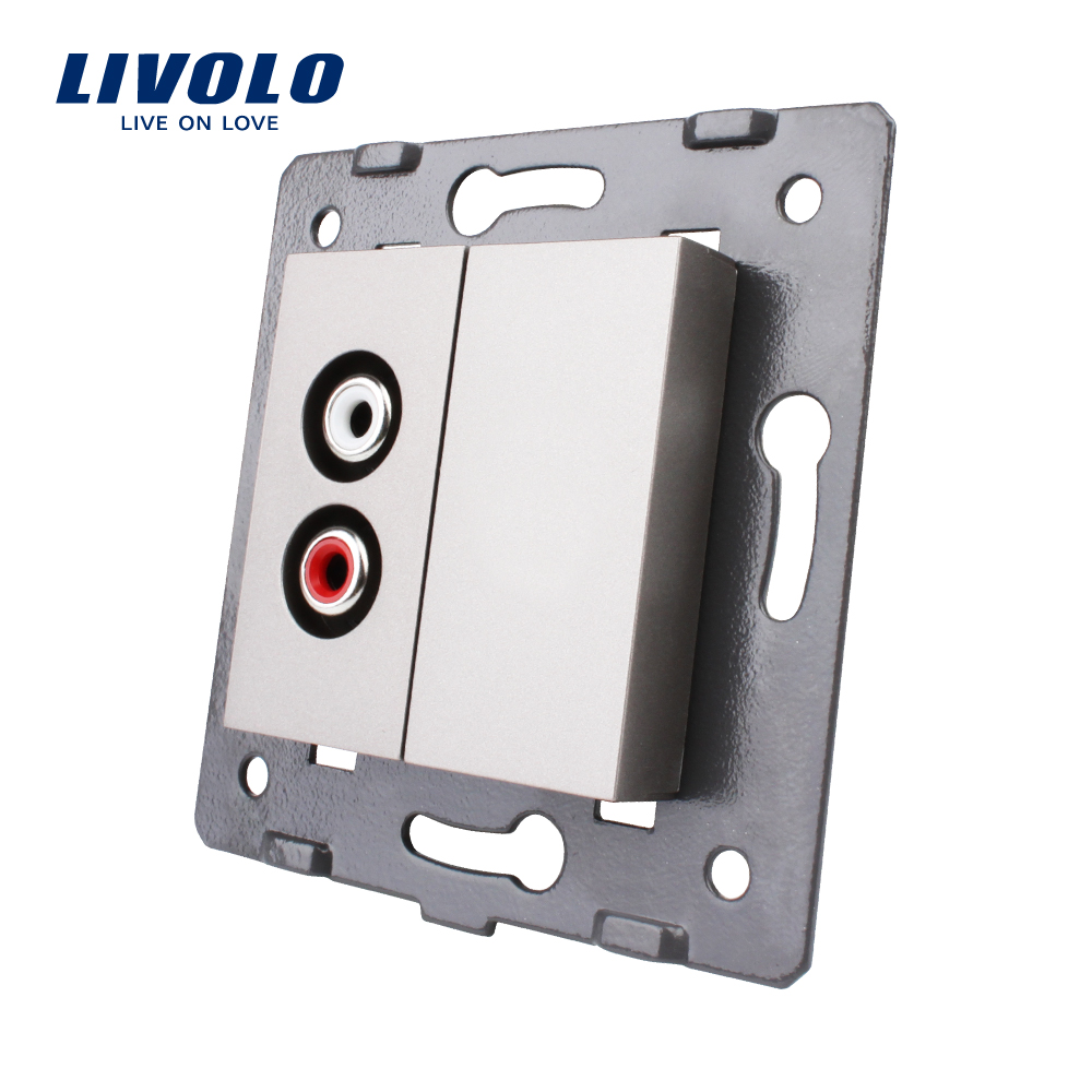Livolo EU Standard Function Key For Audio Socket without glass panel VL C7 1AD 15 Grey